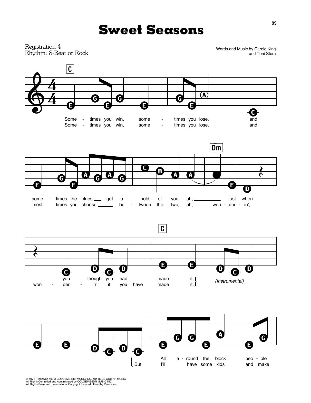 Sweet Seasons (E-Z Play Today)