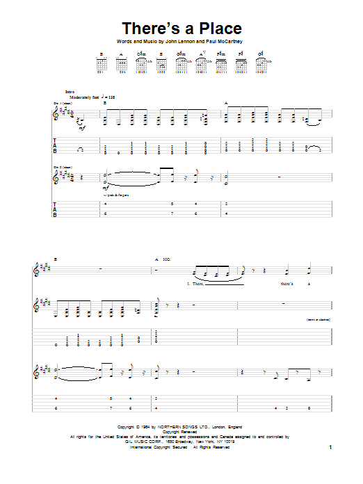 There's A Place (Guitar Tab)