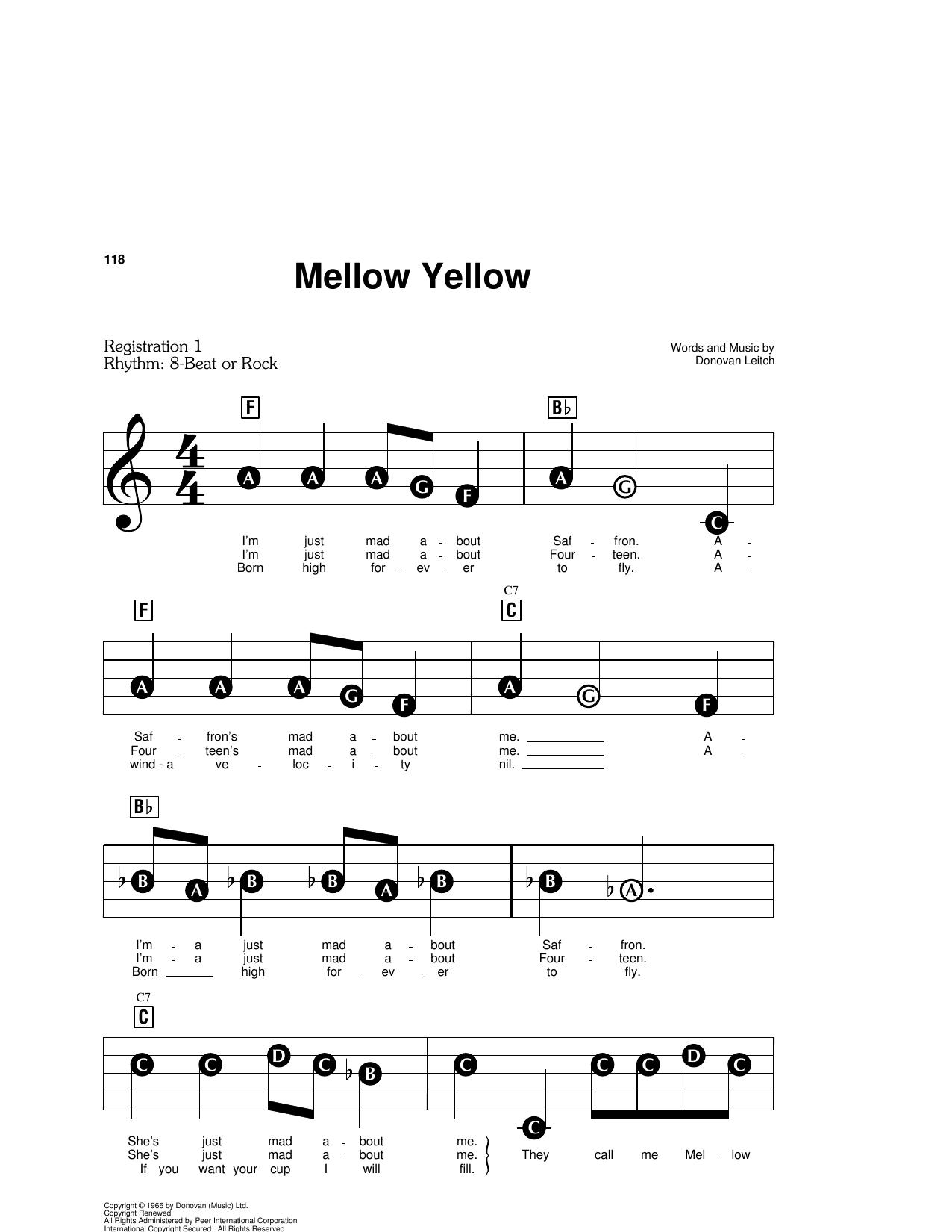 Mellow Yellow (E-Z Play Today)