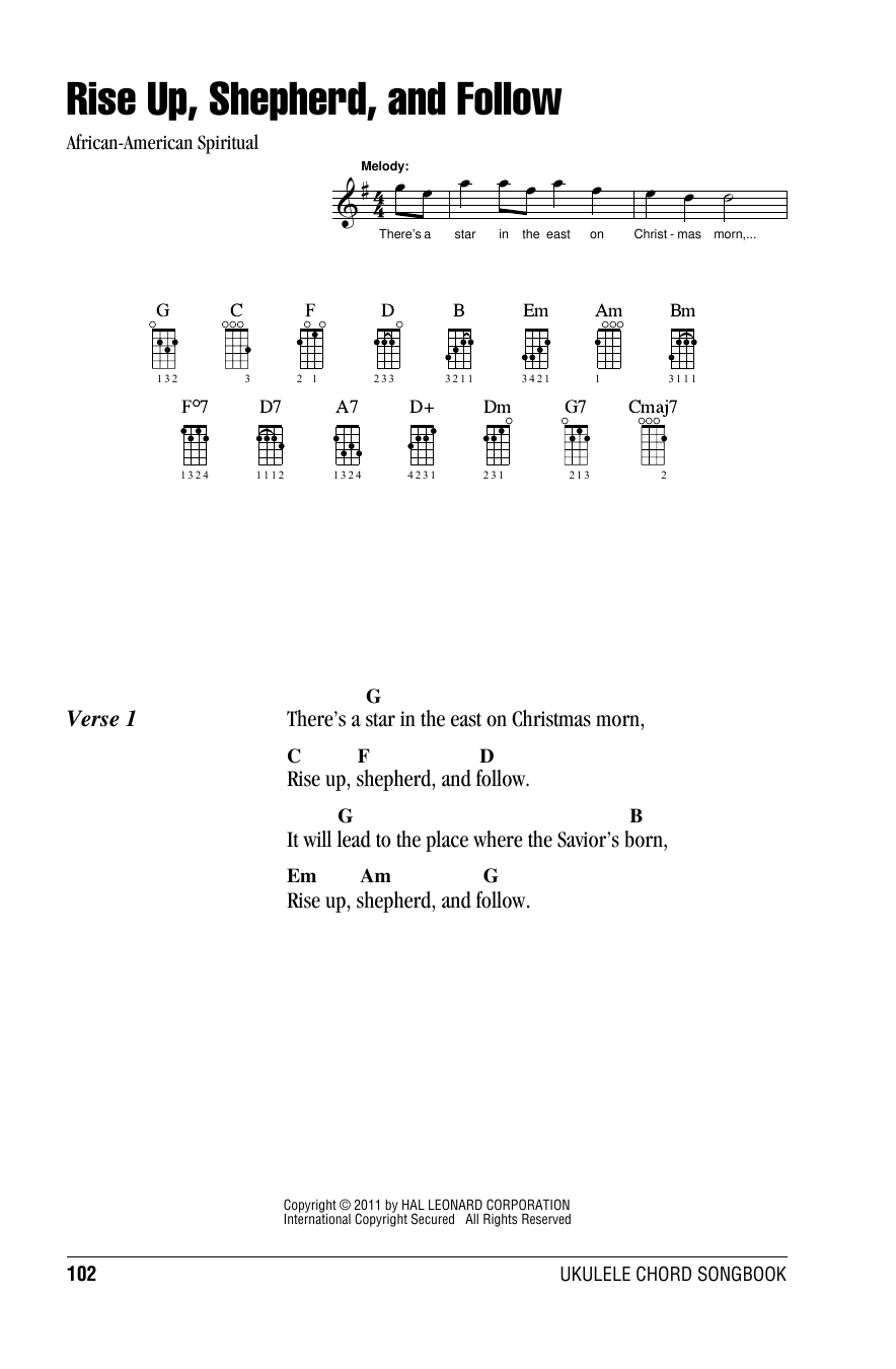 page one of Rise Up, Shepherd, And FollowASALTTEXT