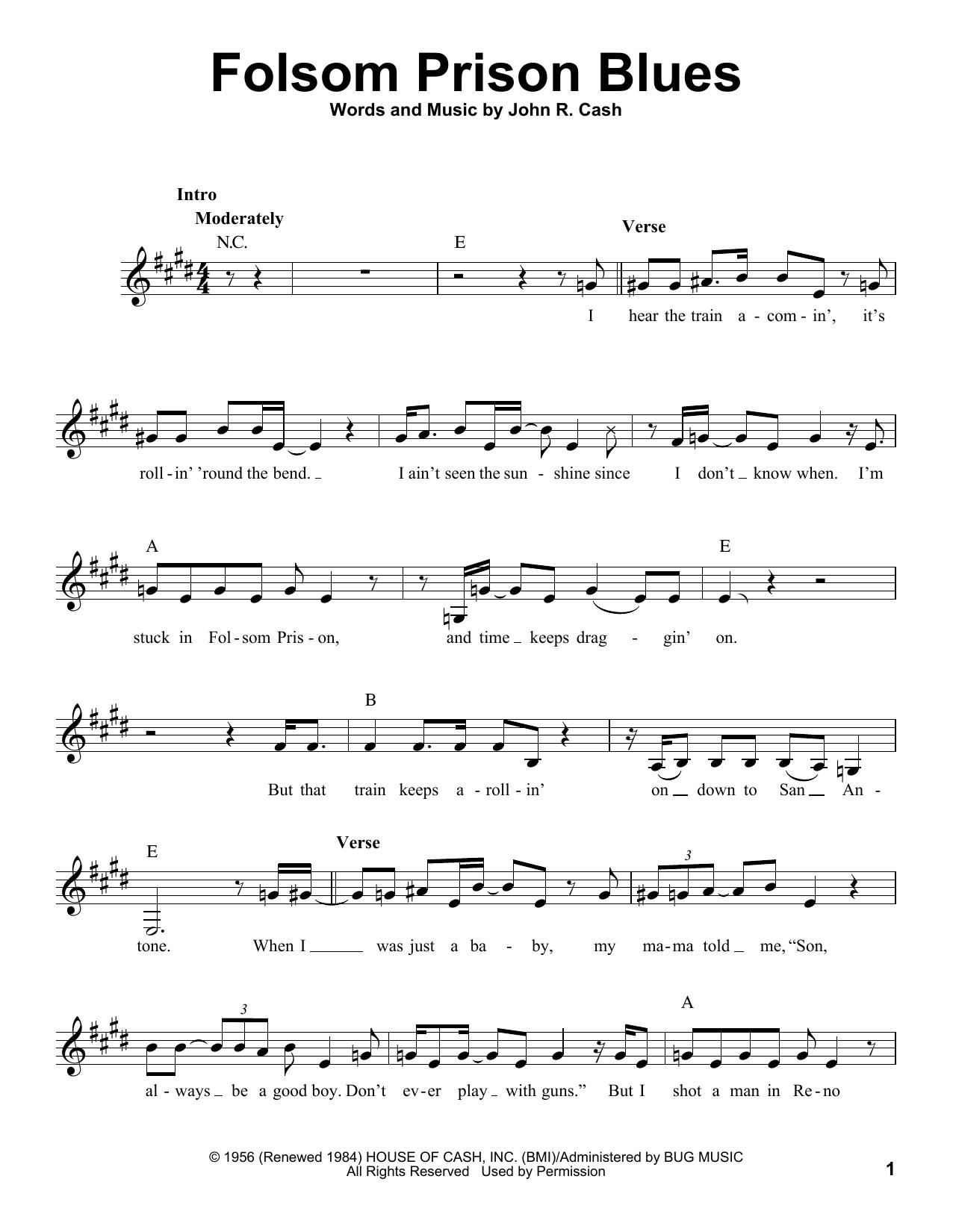 Folsom Prison Blues (Pro Vocal)