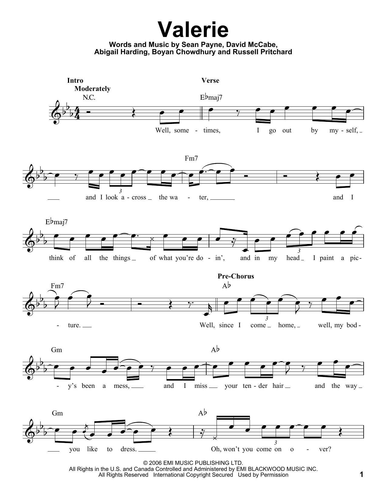 valerie winehouse amy sheet piano chords song guitar promo drum