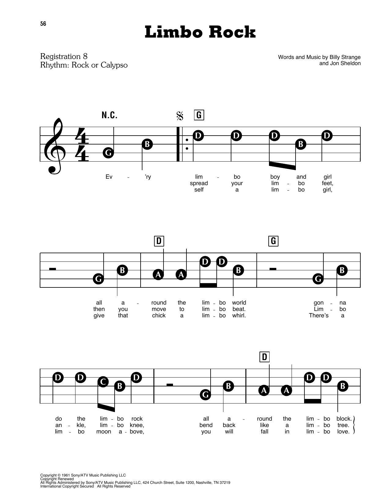 Limbo Rock Sheet Music