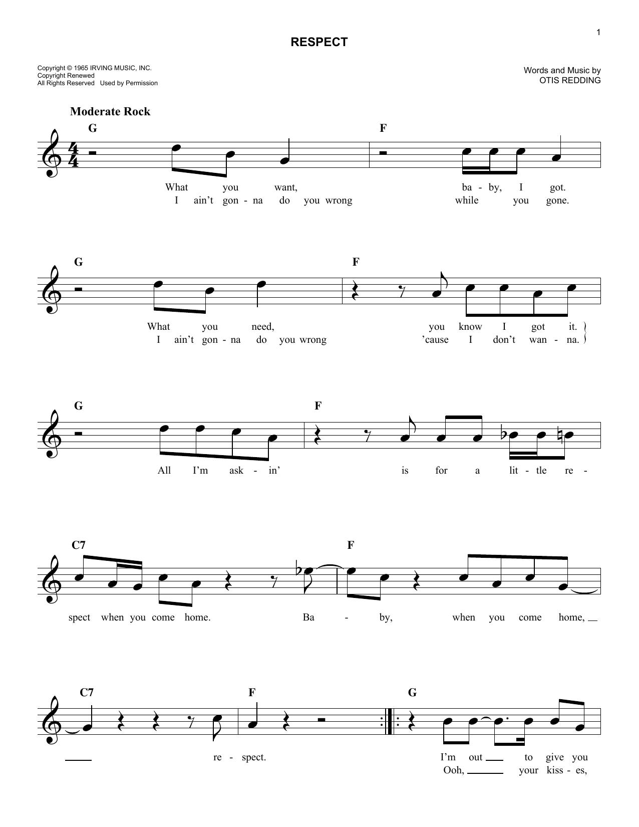 Respect Sheet Music