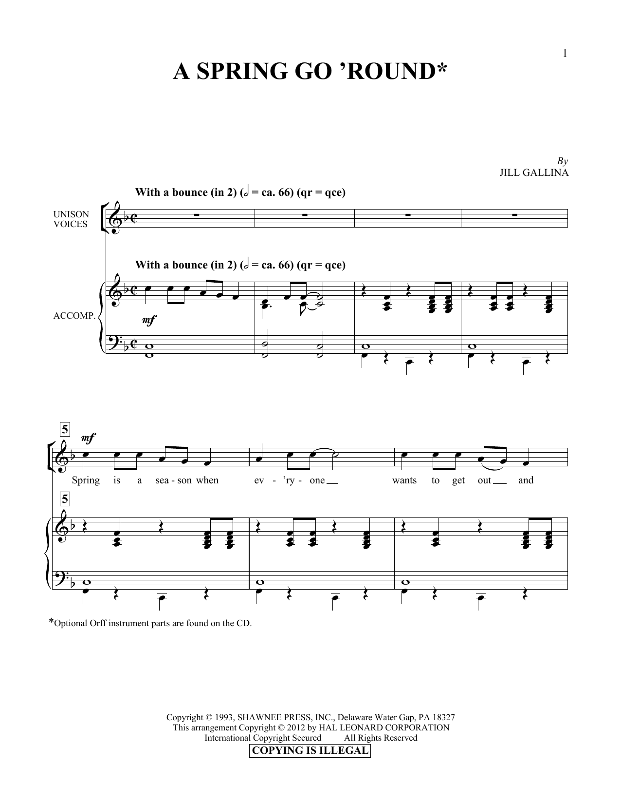 A Spring Go 'Round Sheet Music