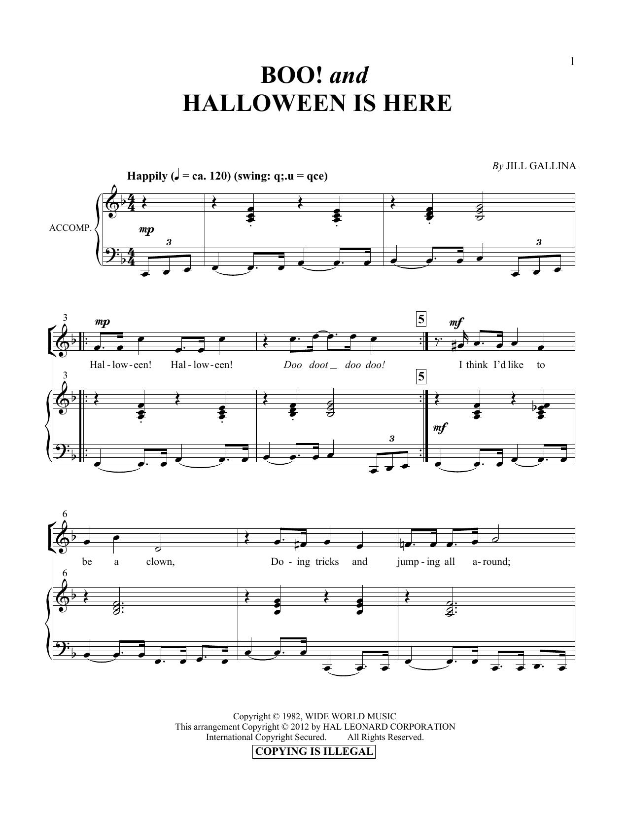 Partition autre Boo! & Halloween Is Here de Jill Gallina - Autre