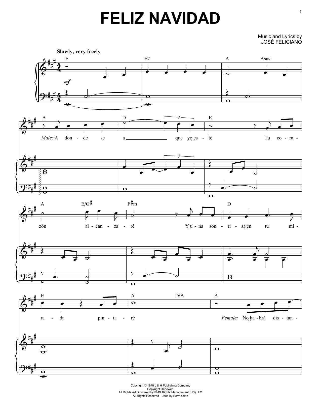 Feliz Navidad (Piano & Vocal)