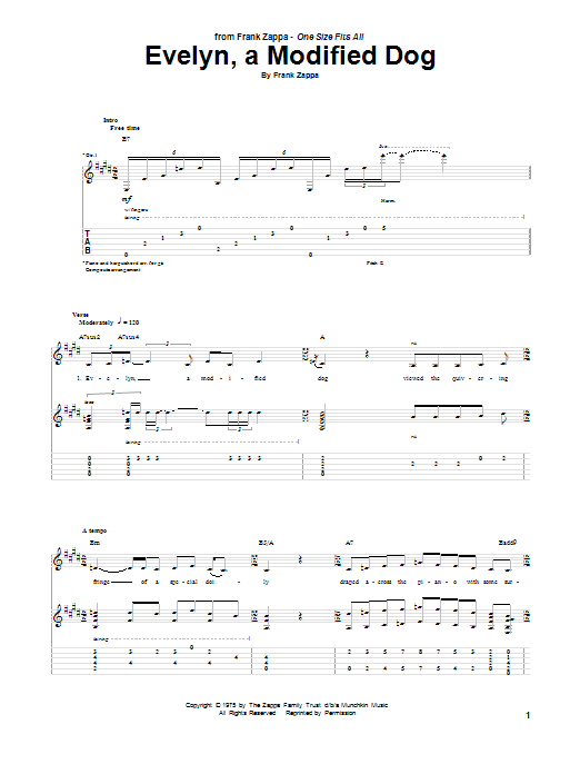 Evelyn, A Modified Dog Sheet Music