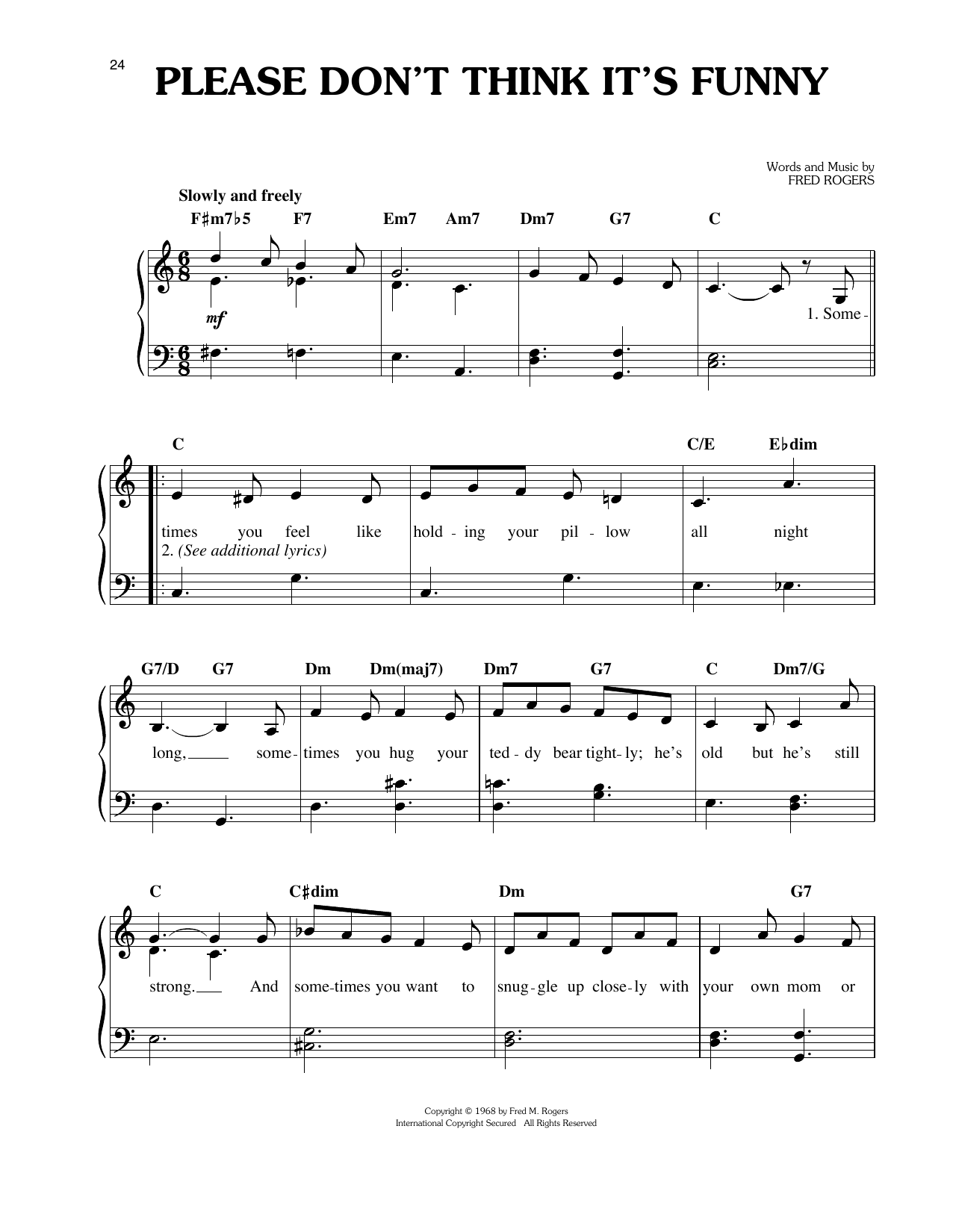 Please Don't Think It's Funny Sheet Music