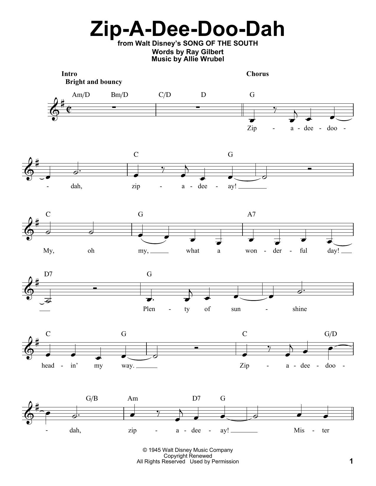 Zip-A-Dee-Doo-Dah (Pro Vocal)