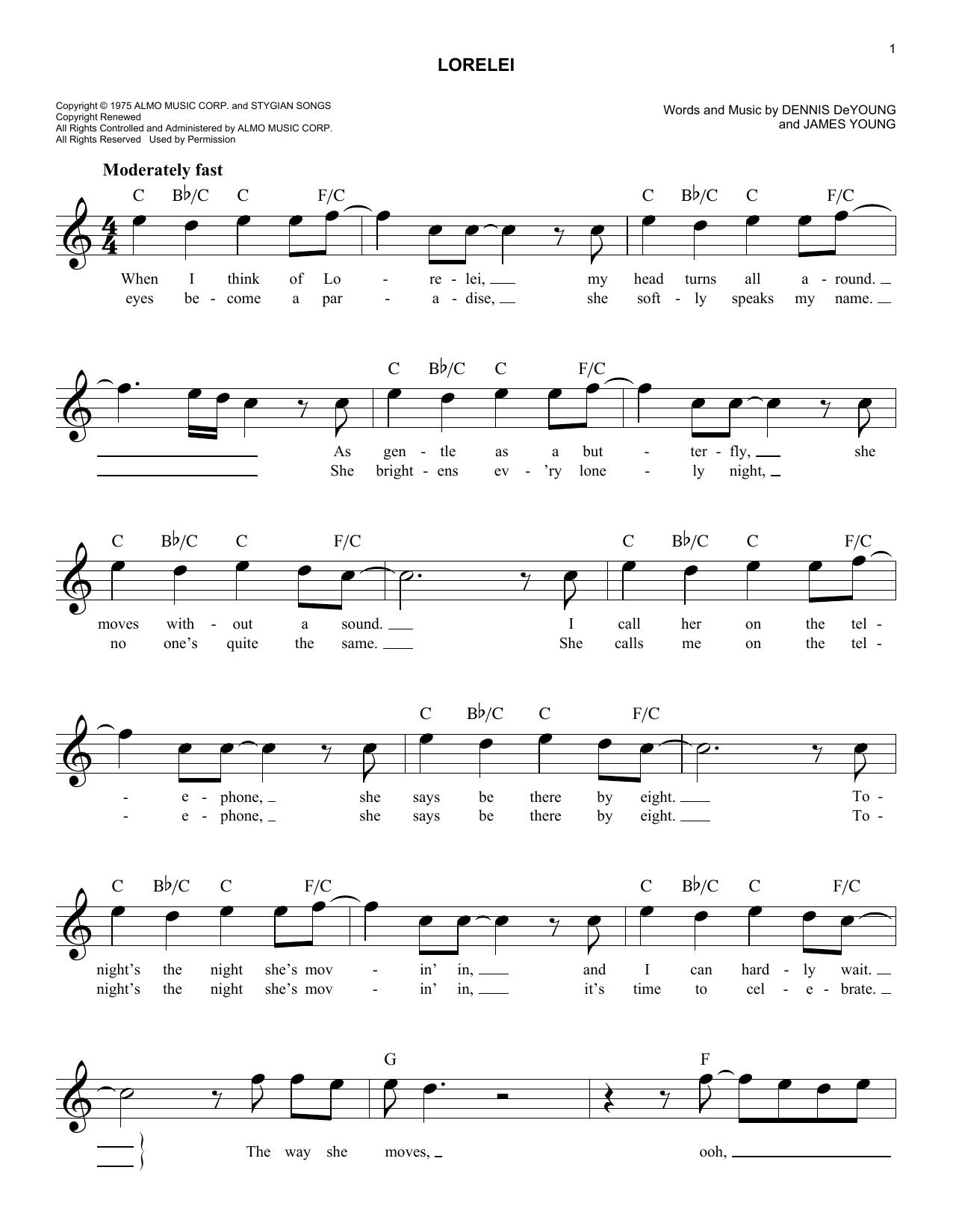 Lorelei Sheet Music