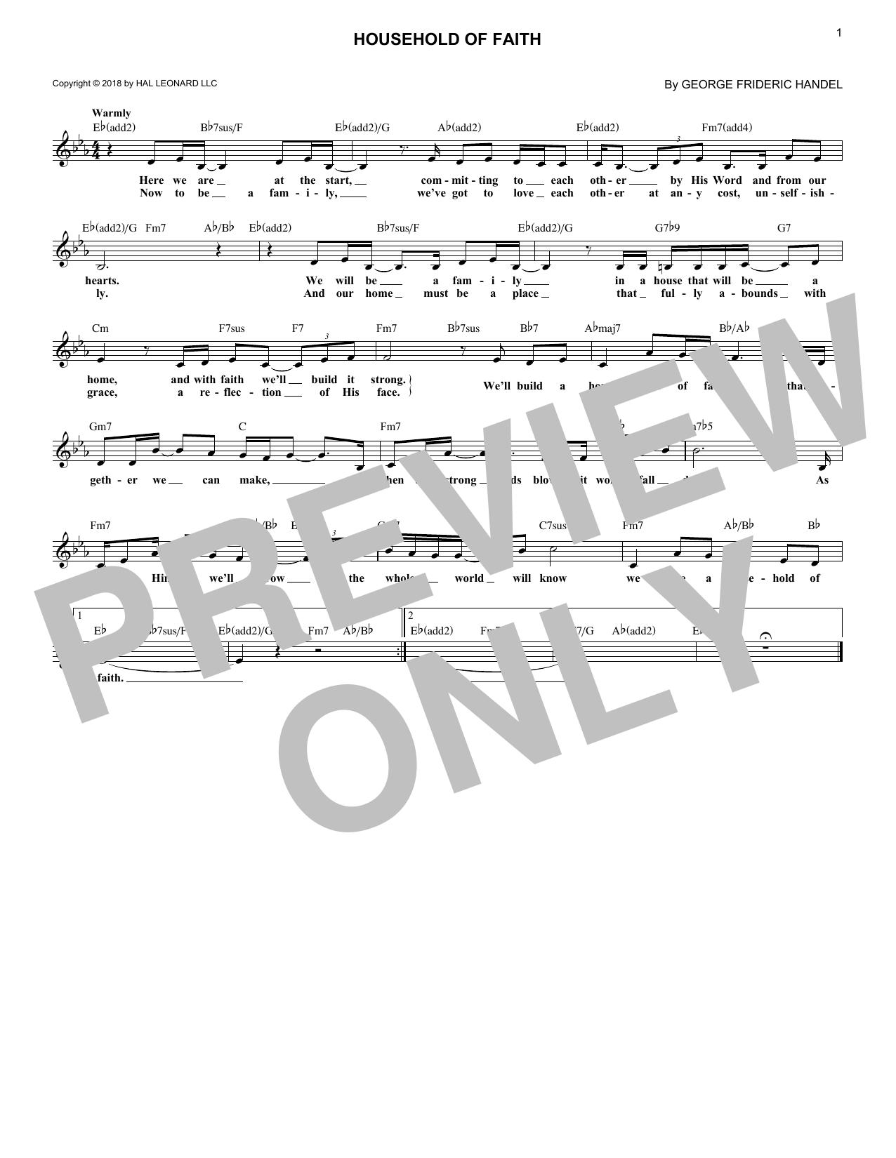 Household Of Faith (Lead Sheet / Fake Book)