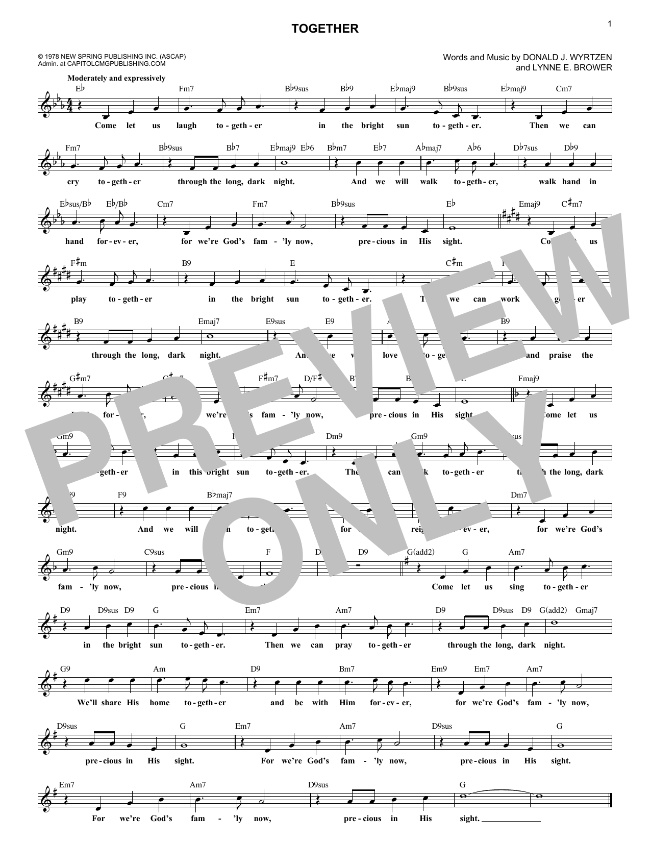 Together (Lead Sheet / Fake Book)