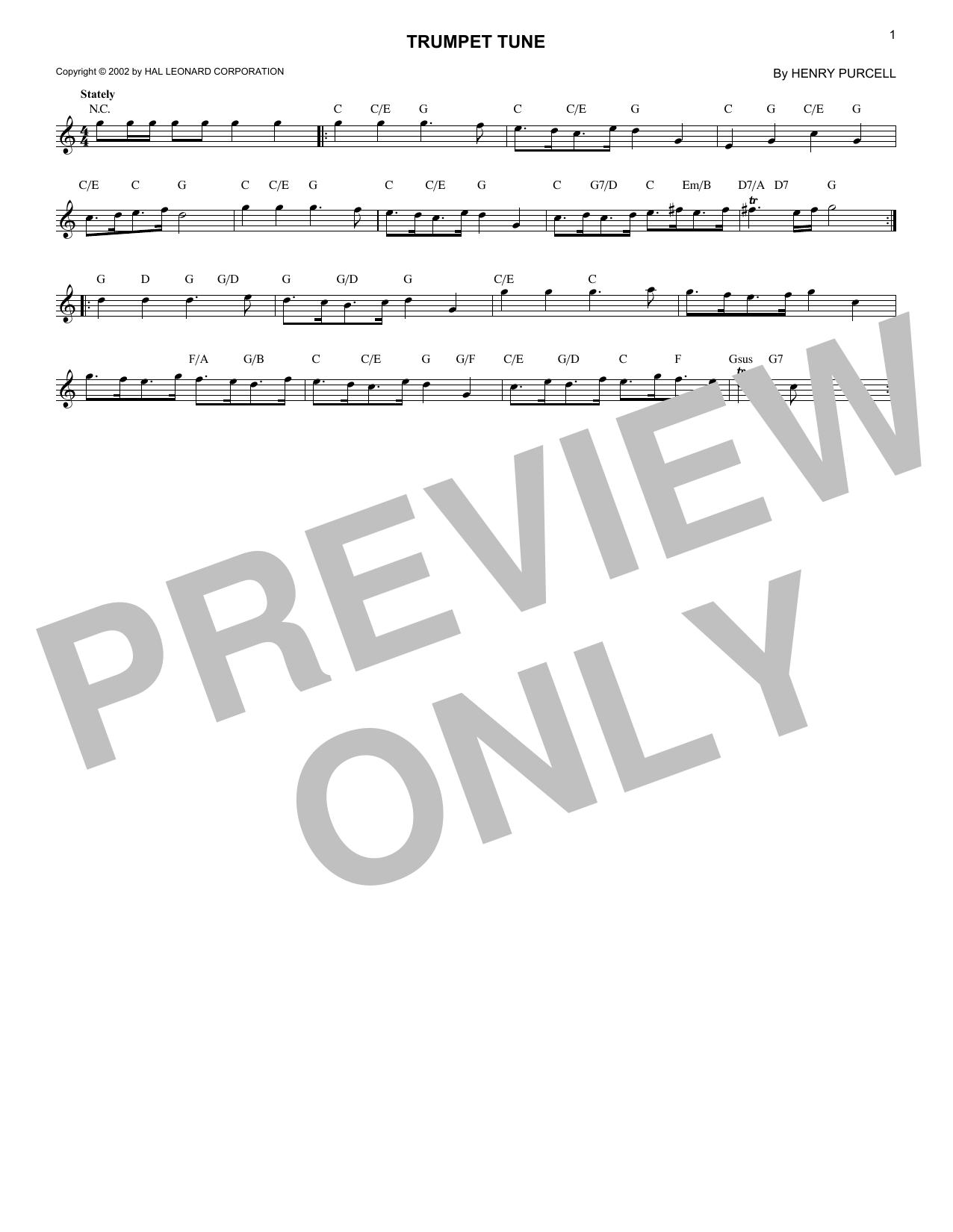 Trumpet Tune (Lead Sheet / Fake Book)