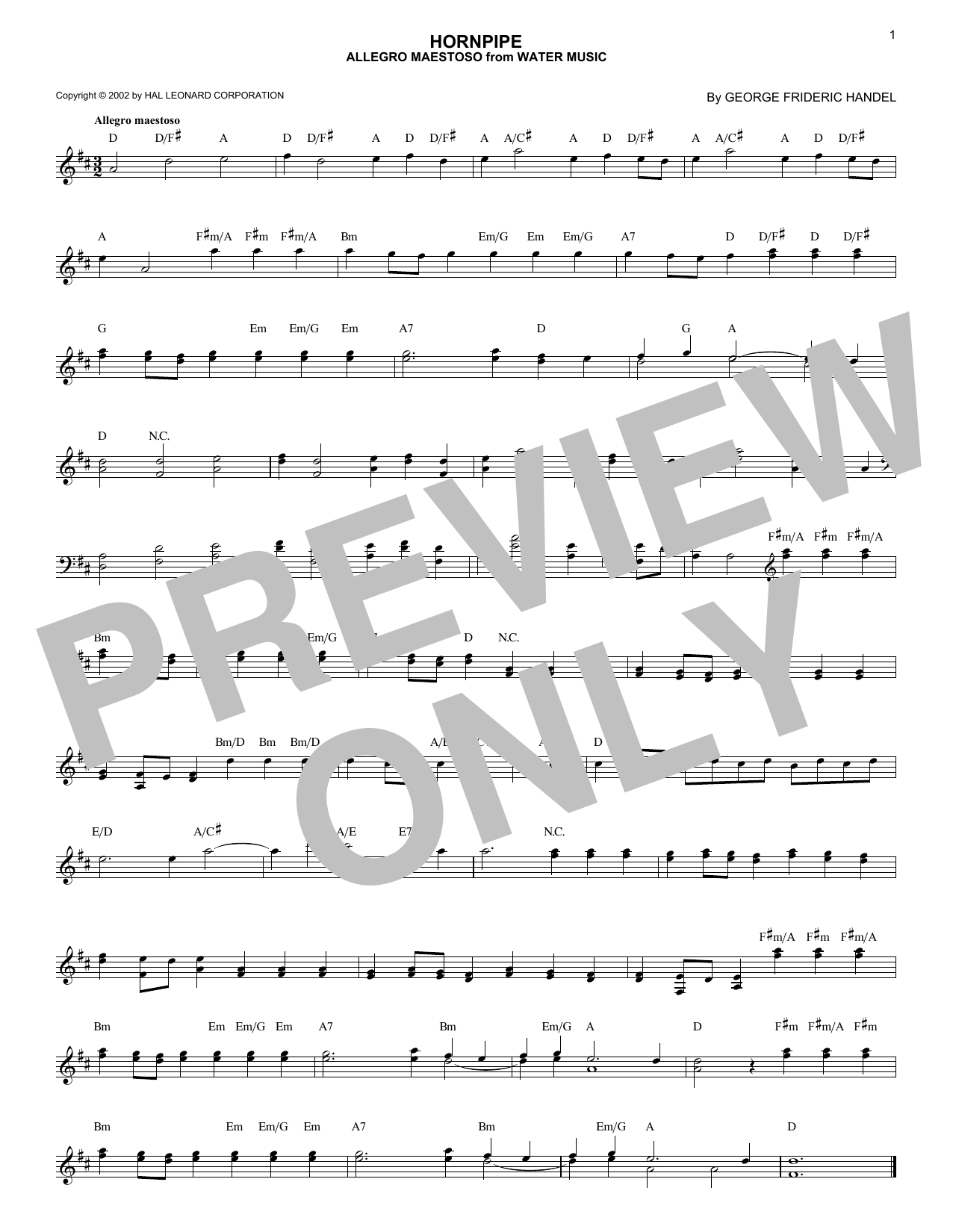 Allegro Maestoso (Lead Sheet / Fake Book)