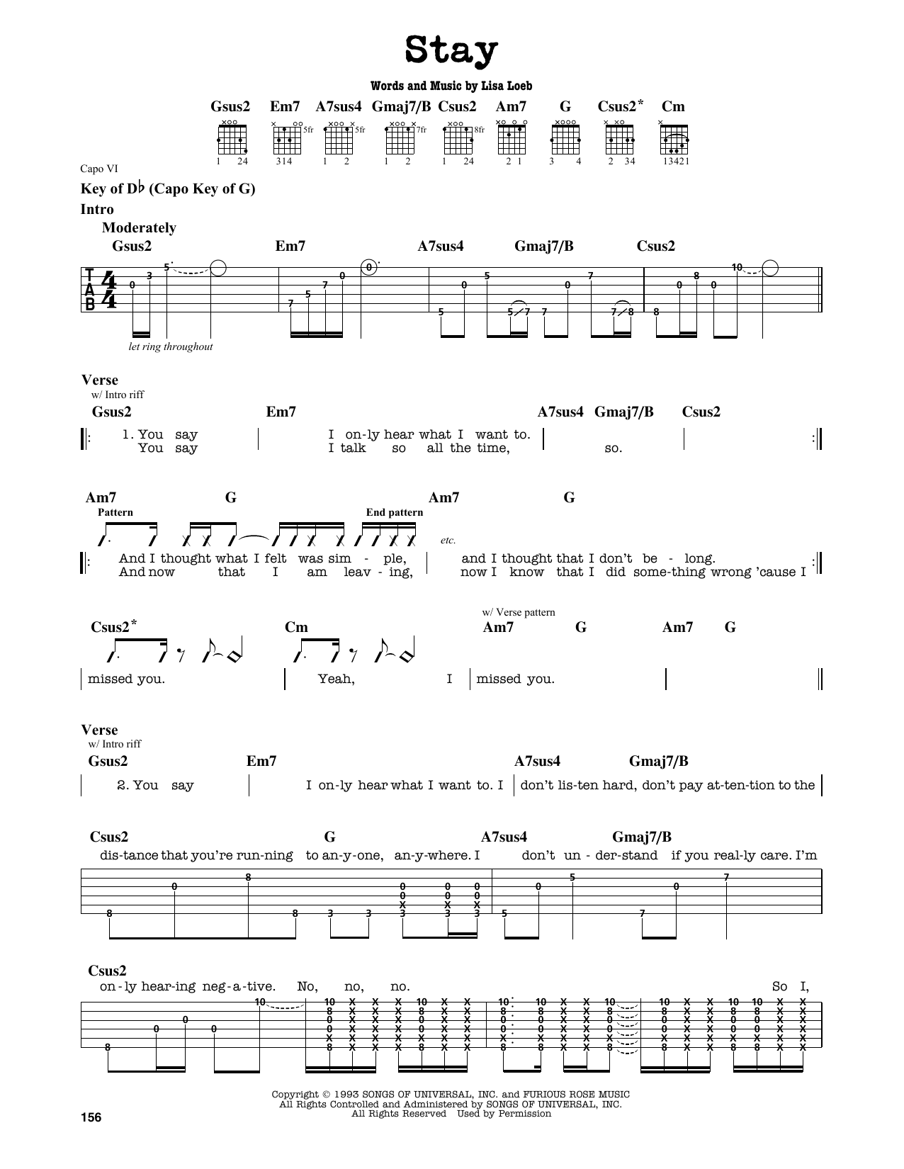 Stay (I Missed You) Sheet Music