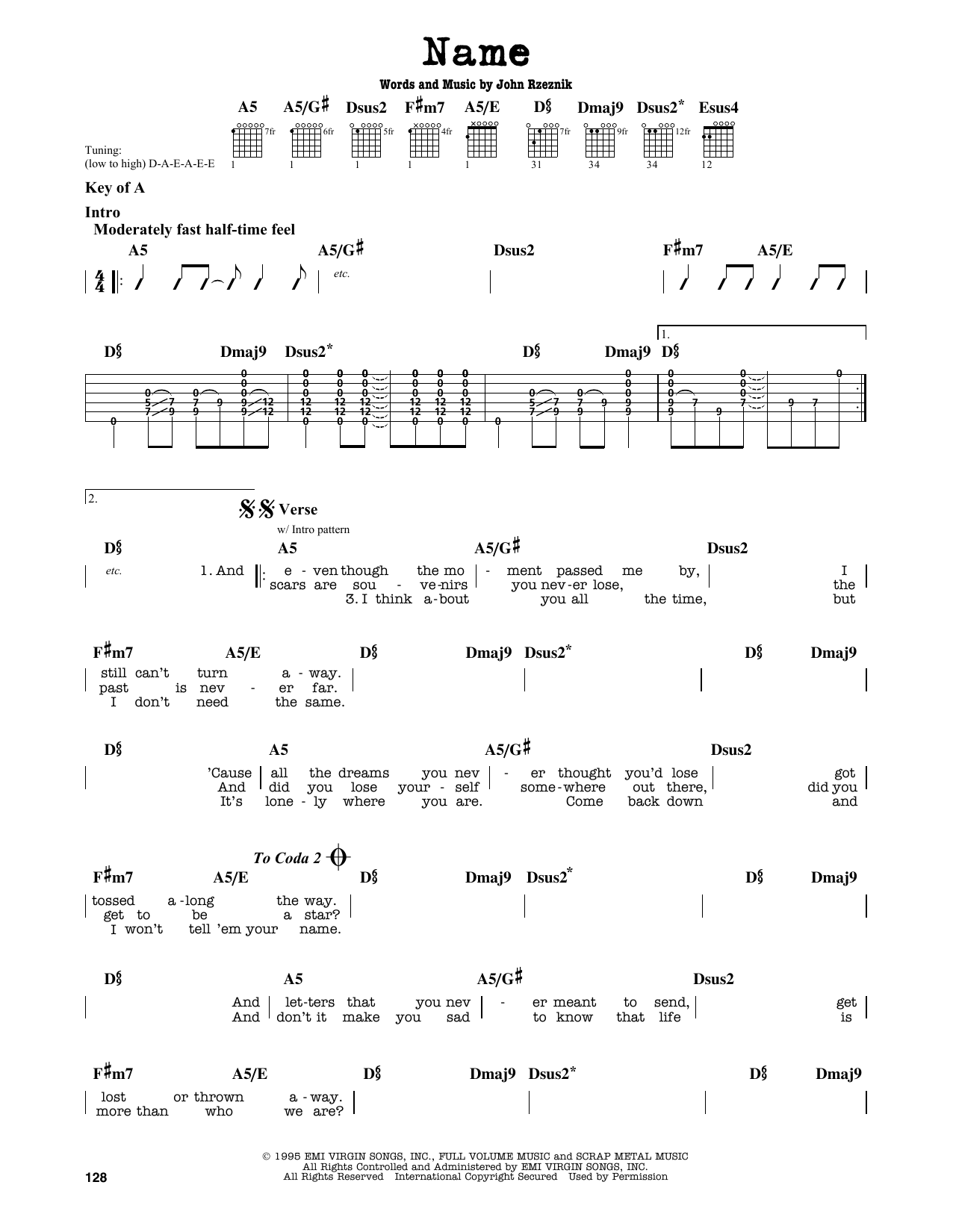 Name Sheet Music