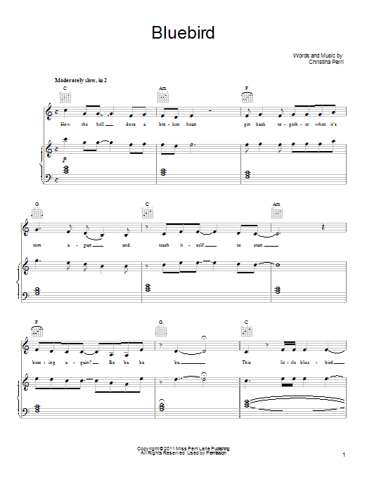 Bluebird Sheet Music