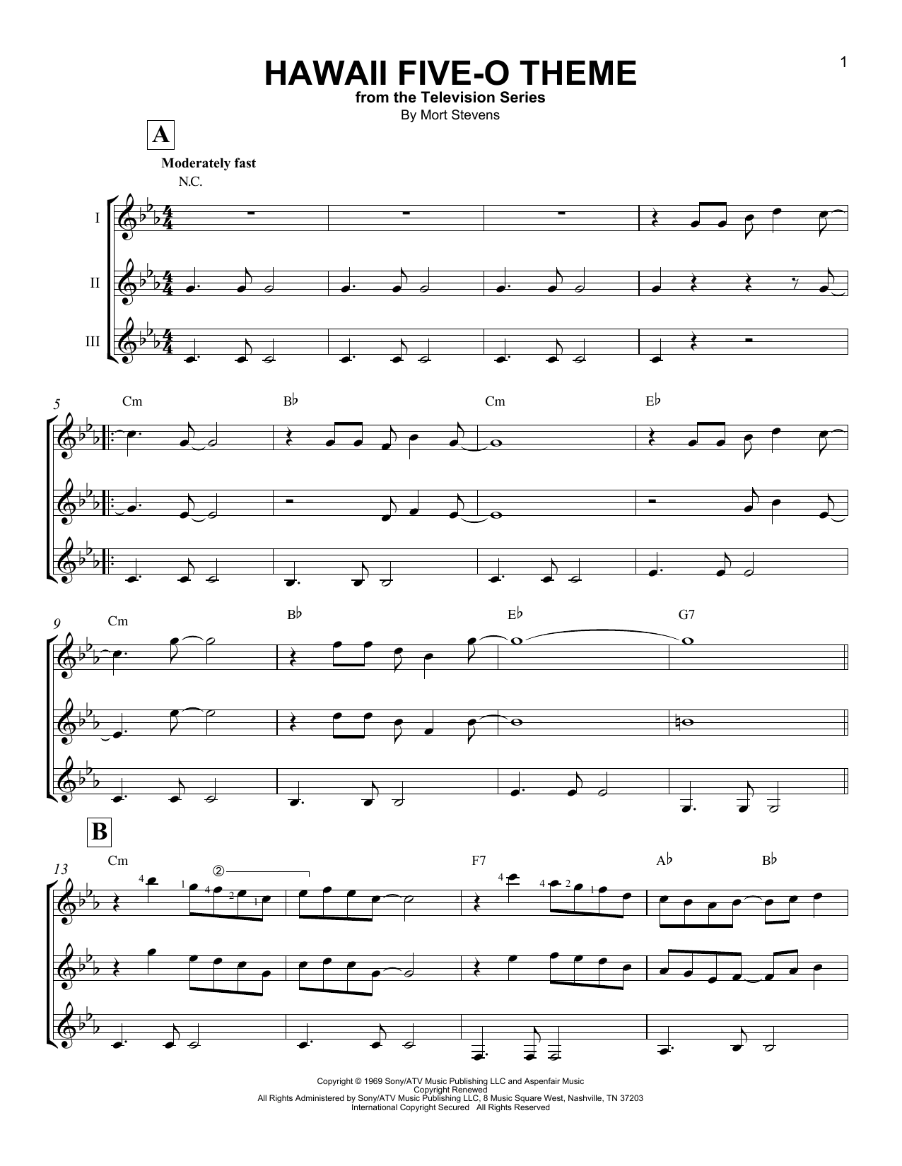 Hawaii Five-O Theme Sheet Music