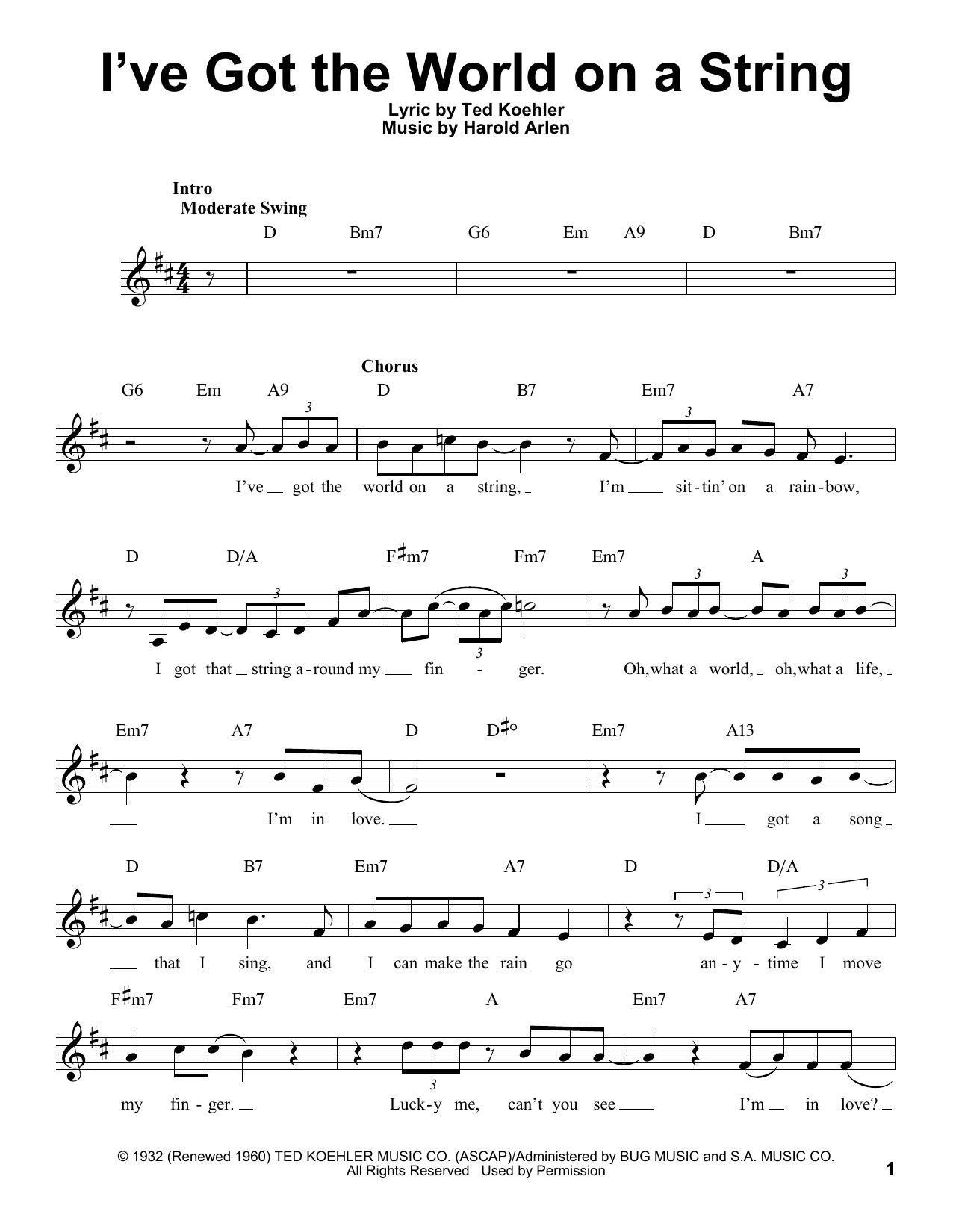 I've Got The World On A String (Pro Vocal)