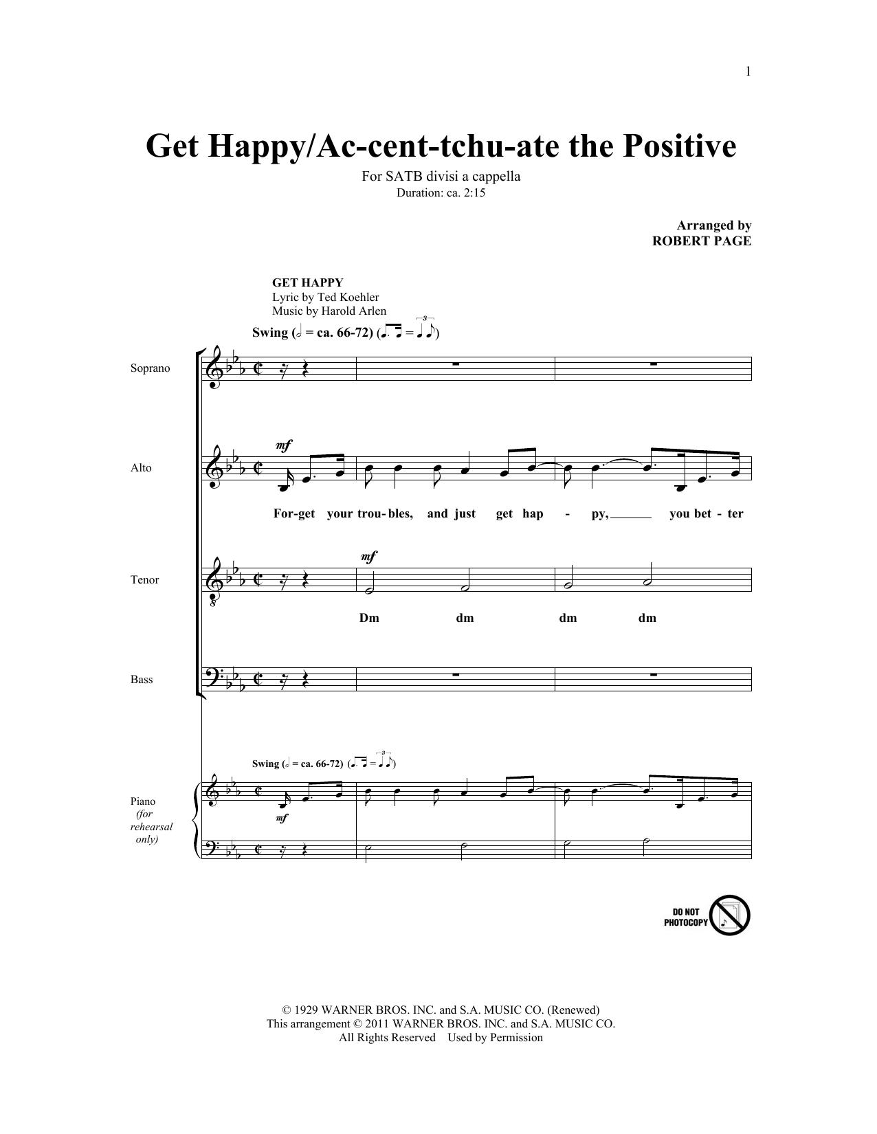 Ac-cent-tchu-ate The Positive (SATB Choir)