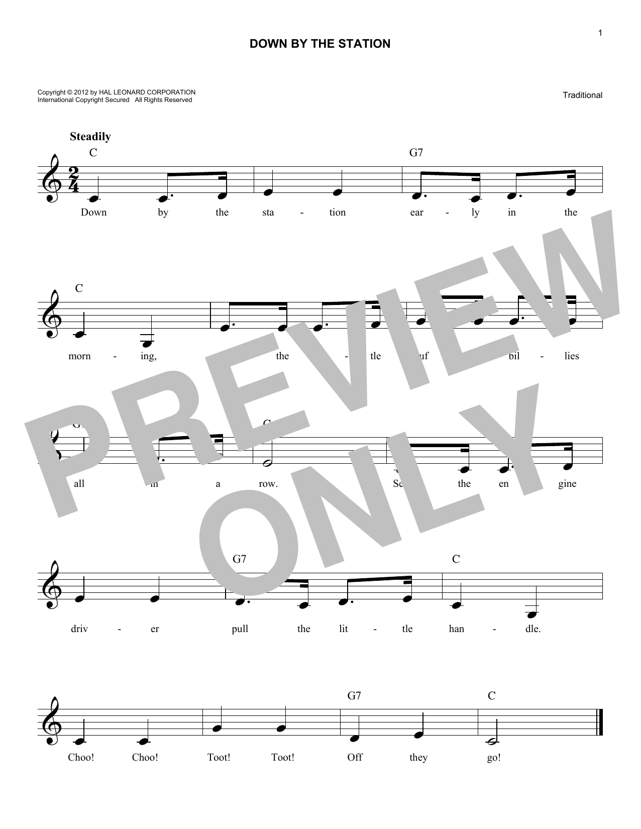 Down By The Station Sheet Music