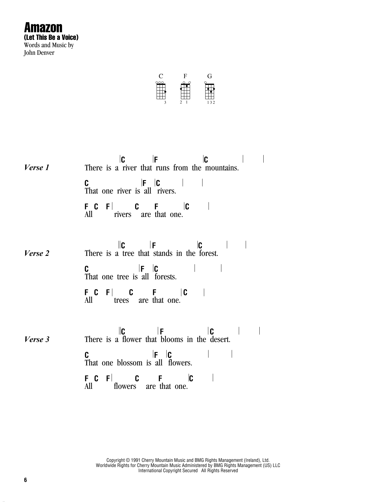 Amazon (Let This Be A Voice) Sheet Music
