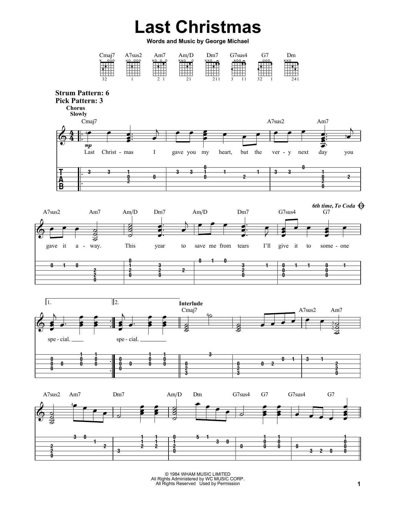 Harmonica harmonica tabs last christmas : Last Christmas Sheet Music Download - last christmas sheet music ...