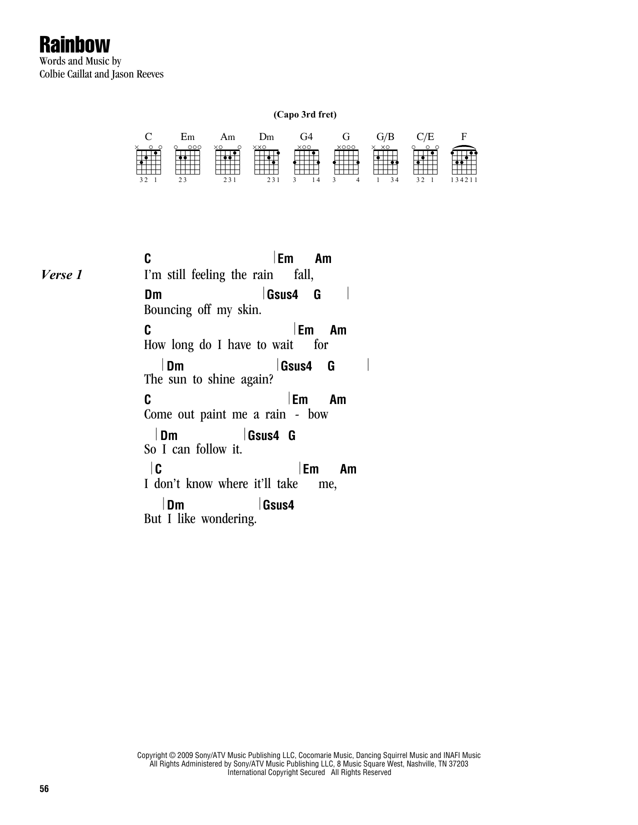 Rainbow (Lyrics & Chords)