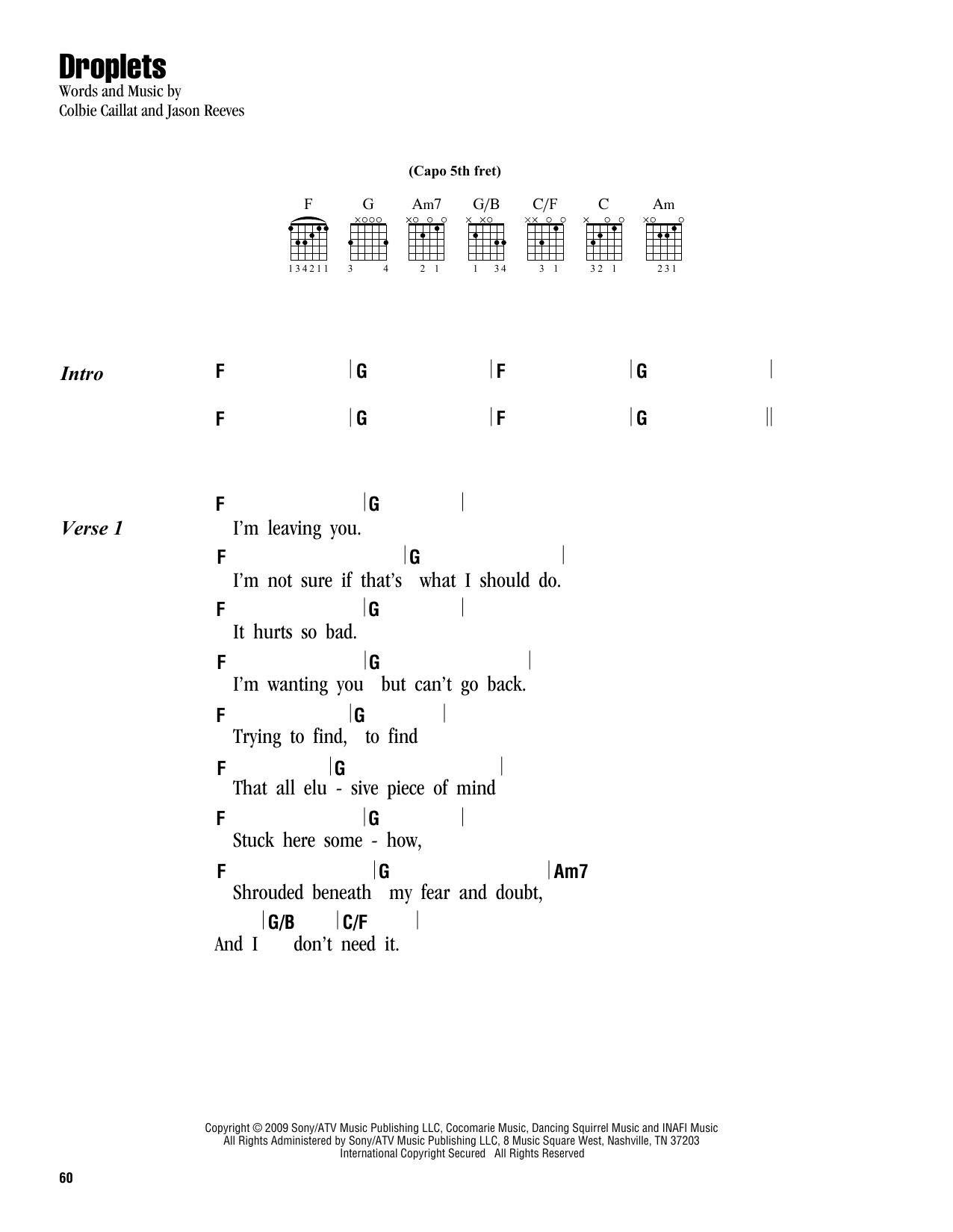 Droplets Sheet Music