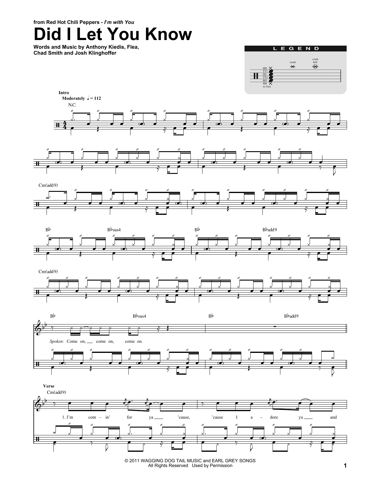Did I Let You Know Sheet Music