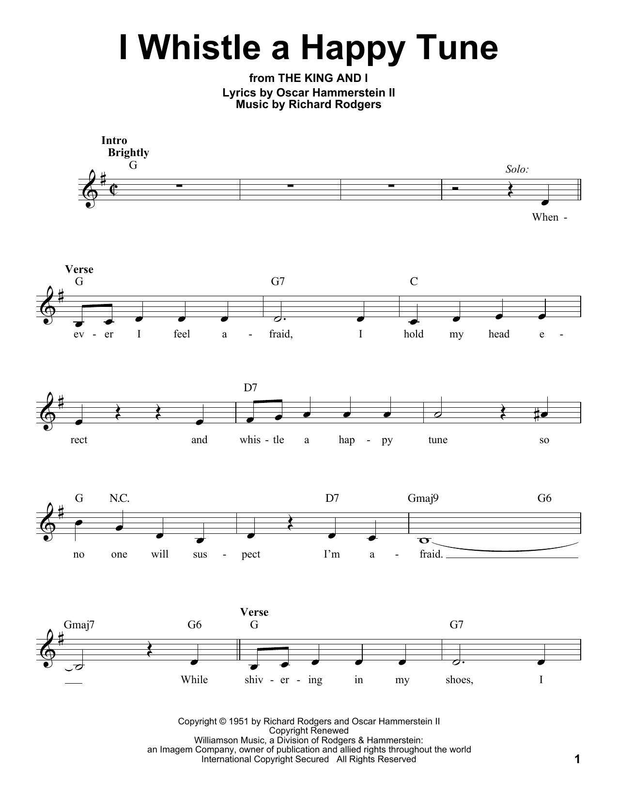 I Whistle A Happy Tune (Pro Vocal)