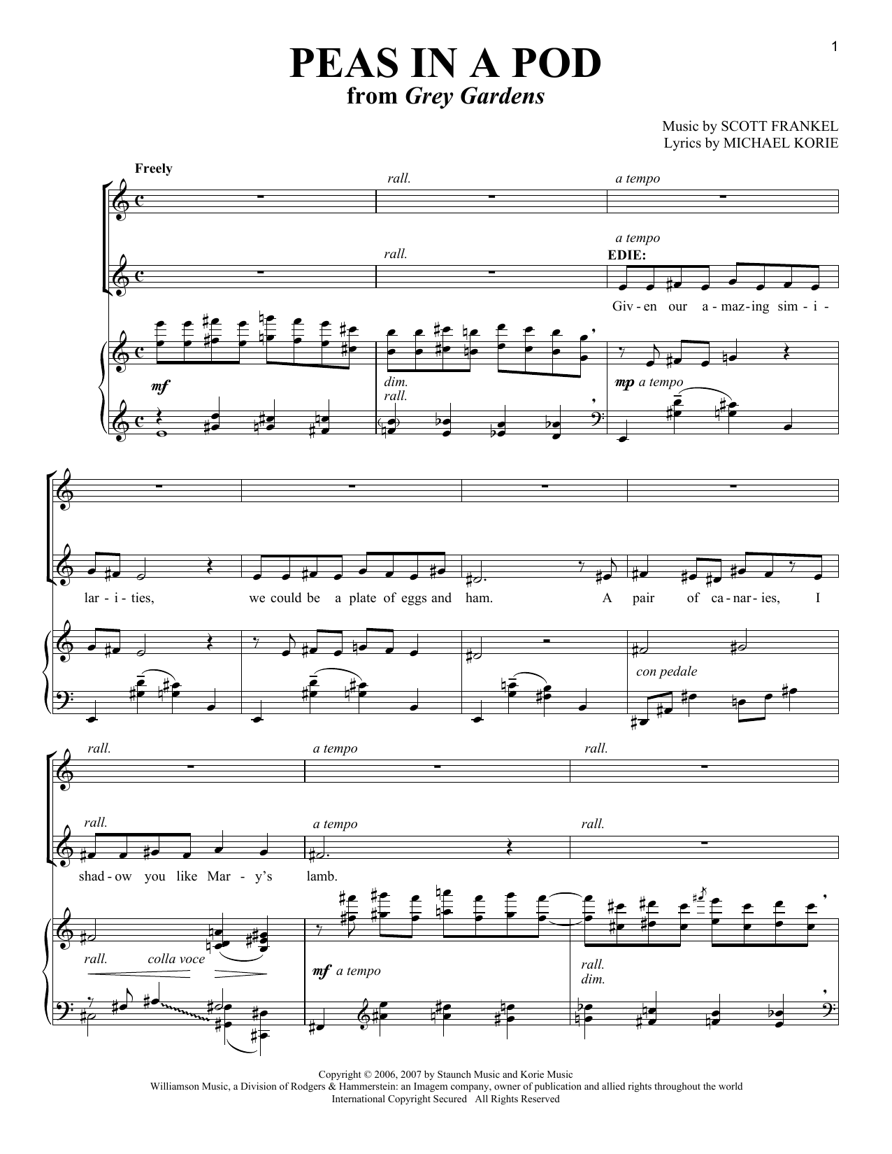 Peas In A Pod (Vocal Duet)