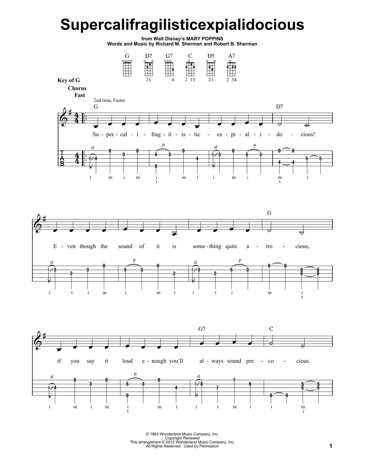 Supercalifragilisticexpialidocious Sheet Music