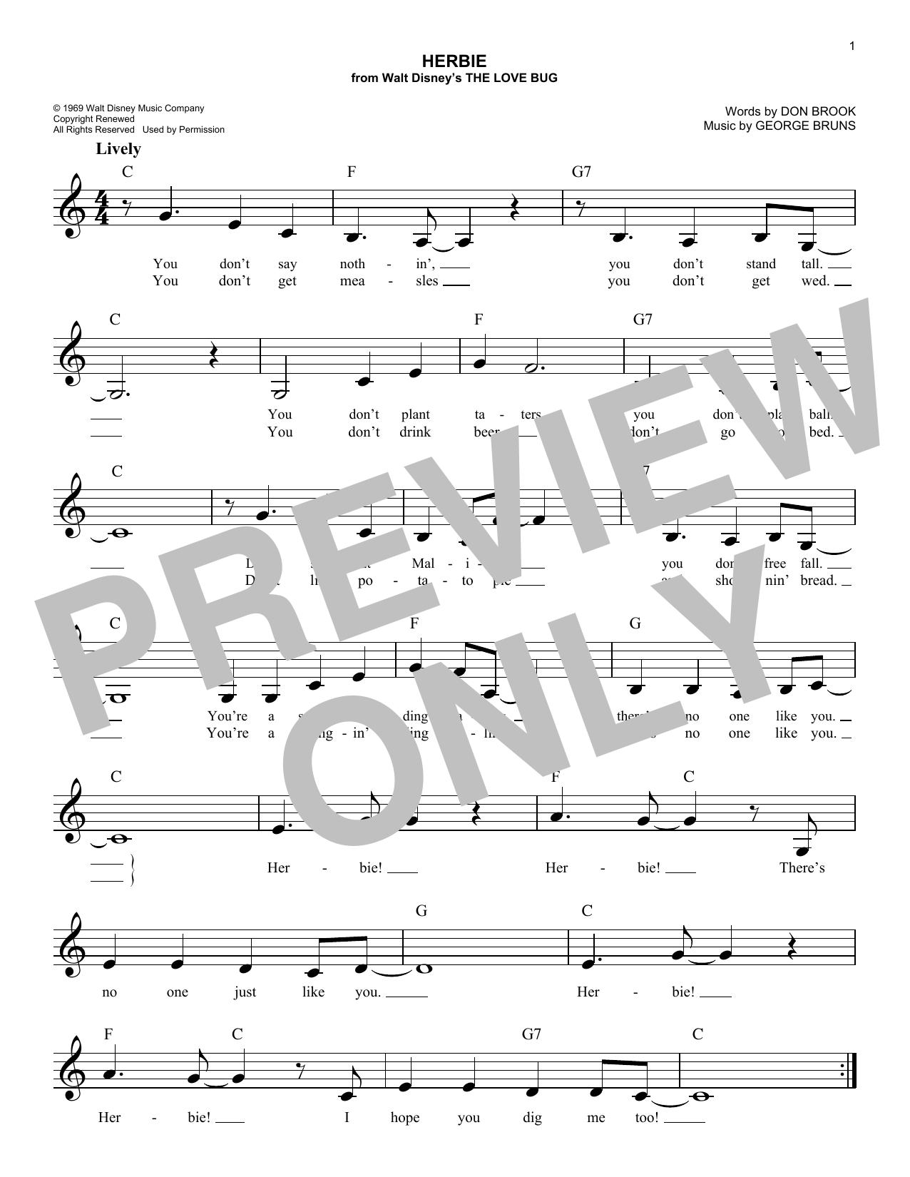 Herbie Sheet Music