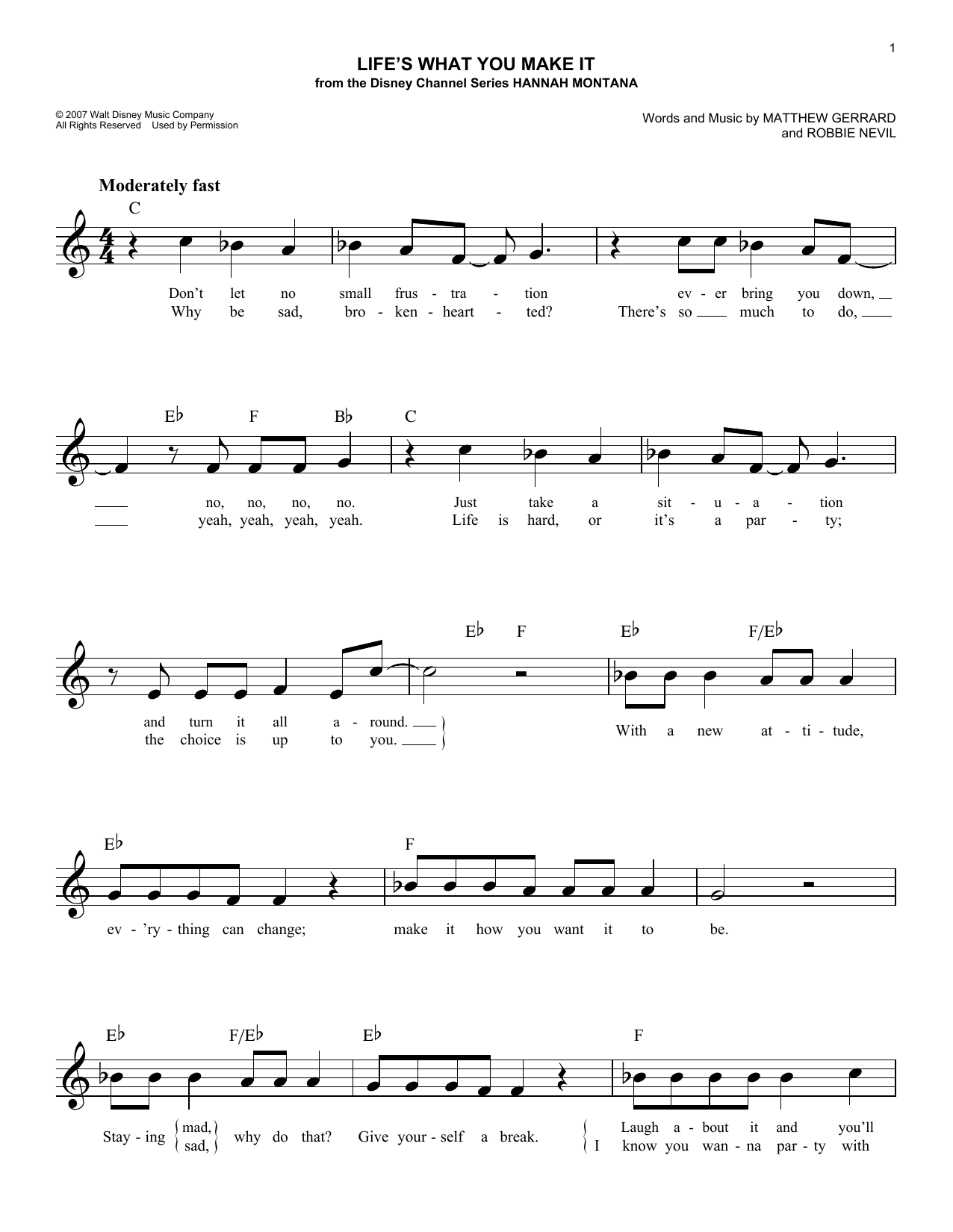 Life's What You Make It Sheet Music