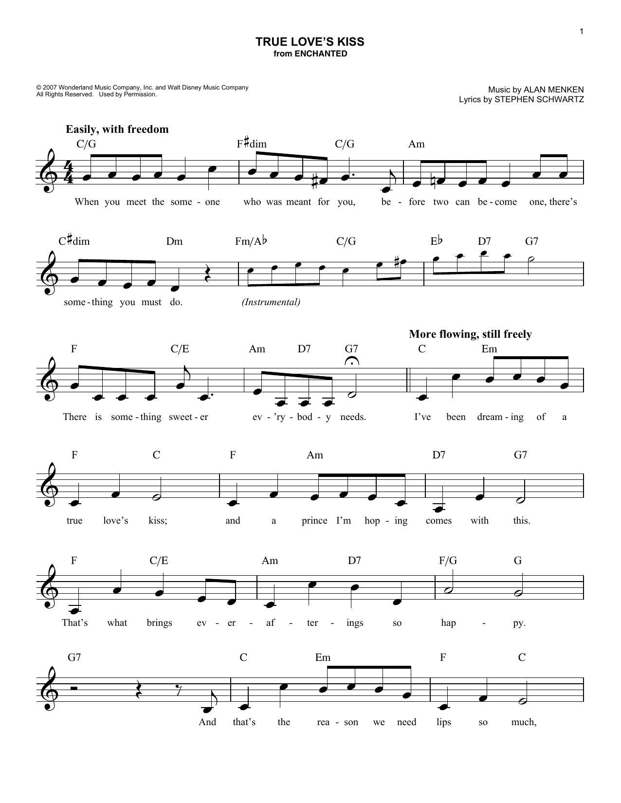 True Love's Kiss Sheet Music