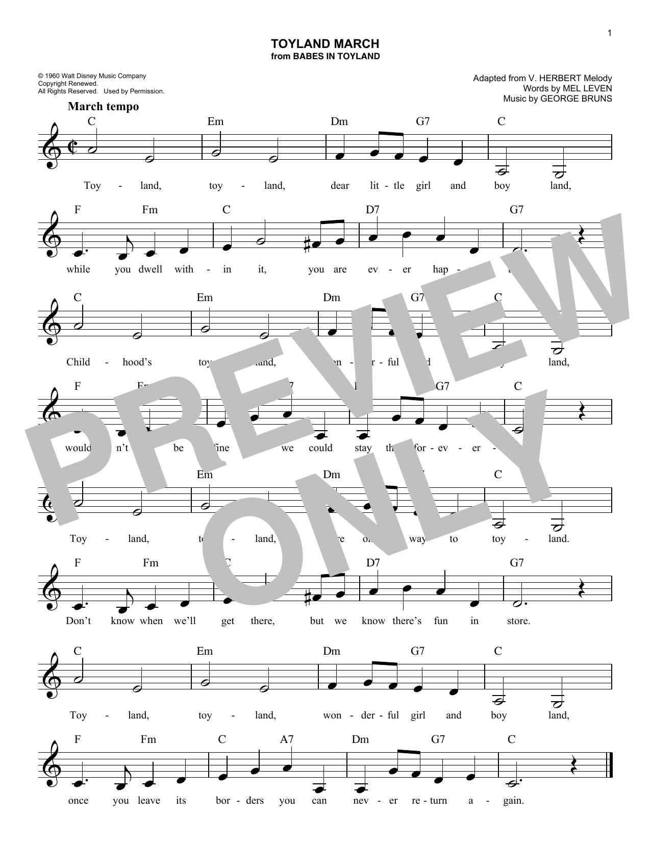 Toyland March Sheet Music