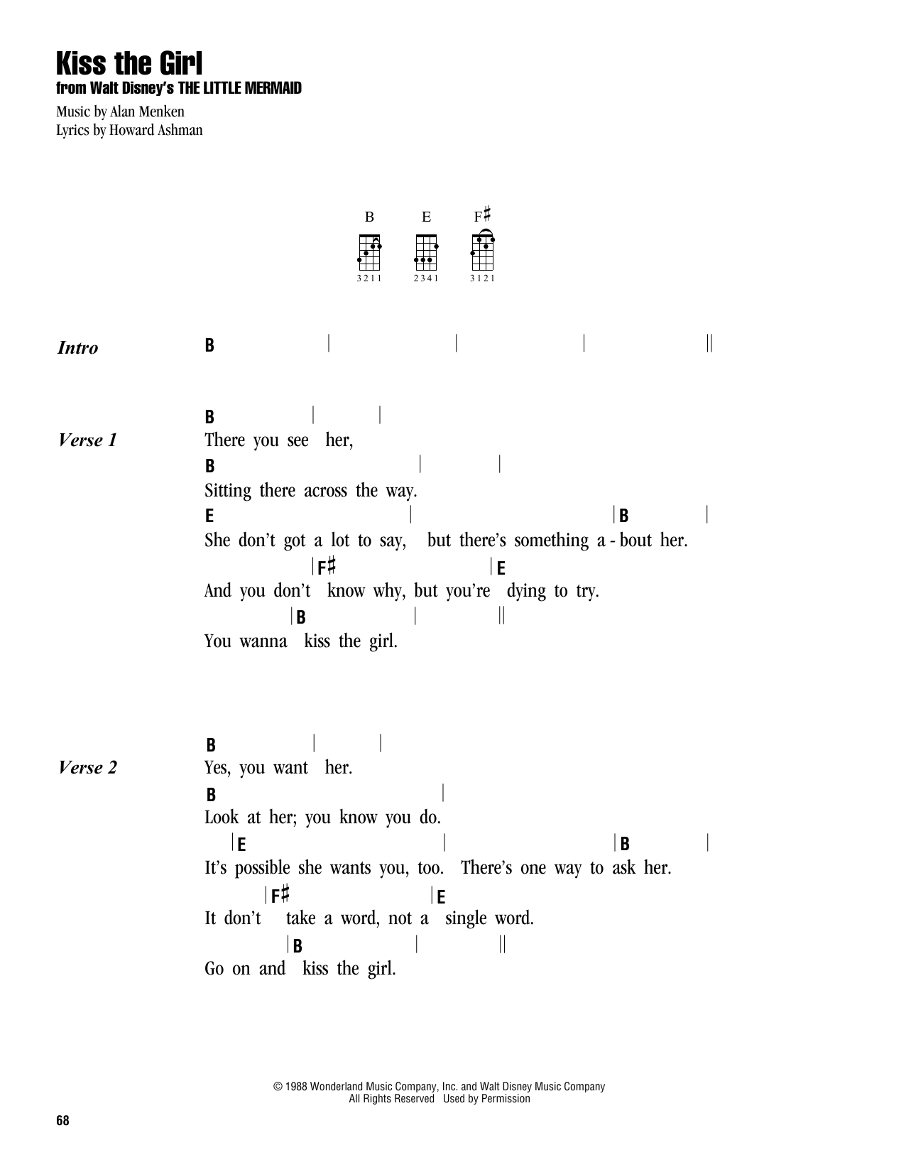 Kiss the girl sheet music by colbie caillat ukulele with colbie caillat kiss the girl ukulele with strumming patterns hexwebz Choice Image