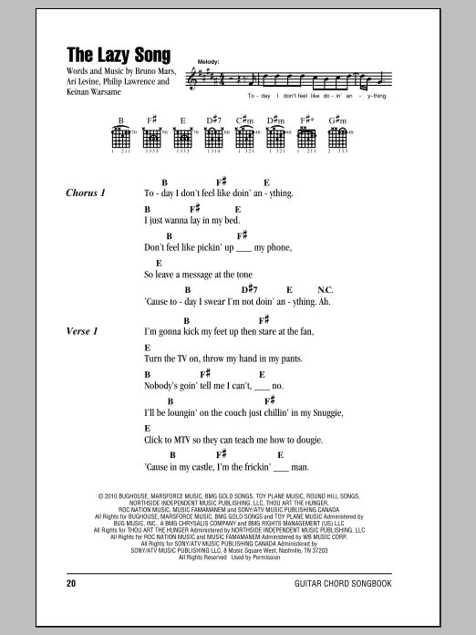 Ukulele ukulele chords lazy song easy : Ukulele : lazy song ukulele chords Lazy Song and Lazy Song Ukulele ...