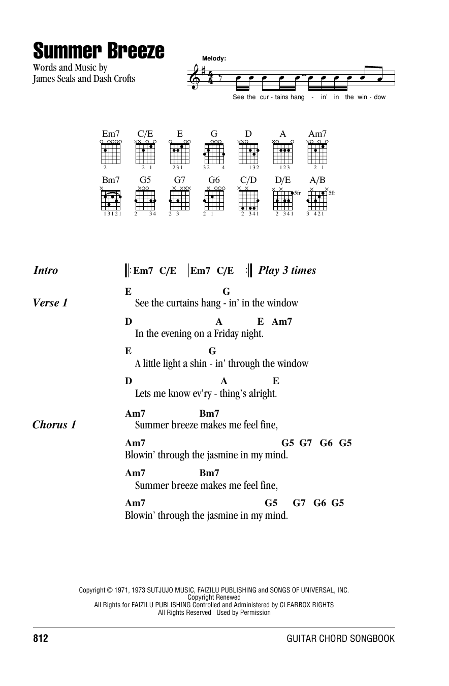 Summer Breeze Sheet Music