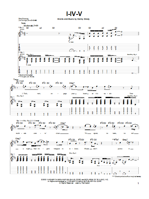 I-IV-V Sheet Music