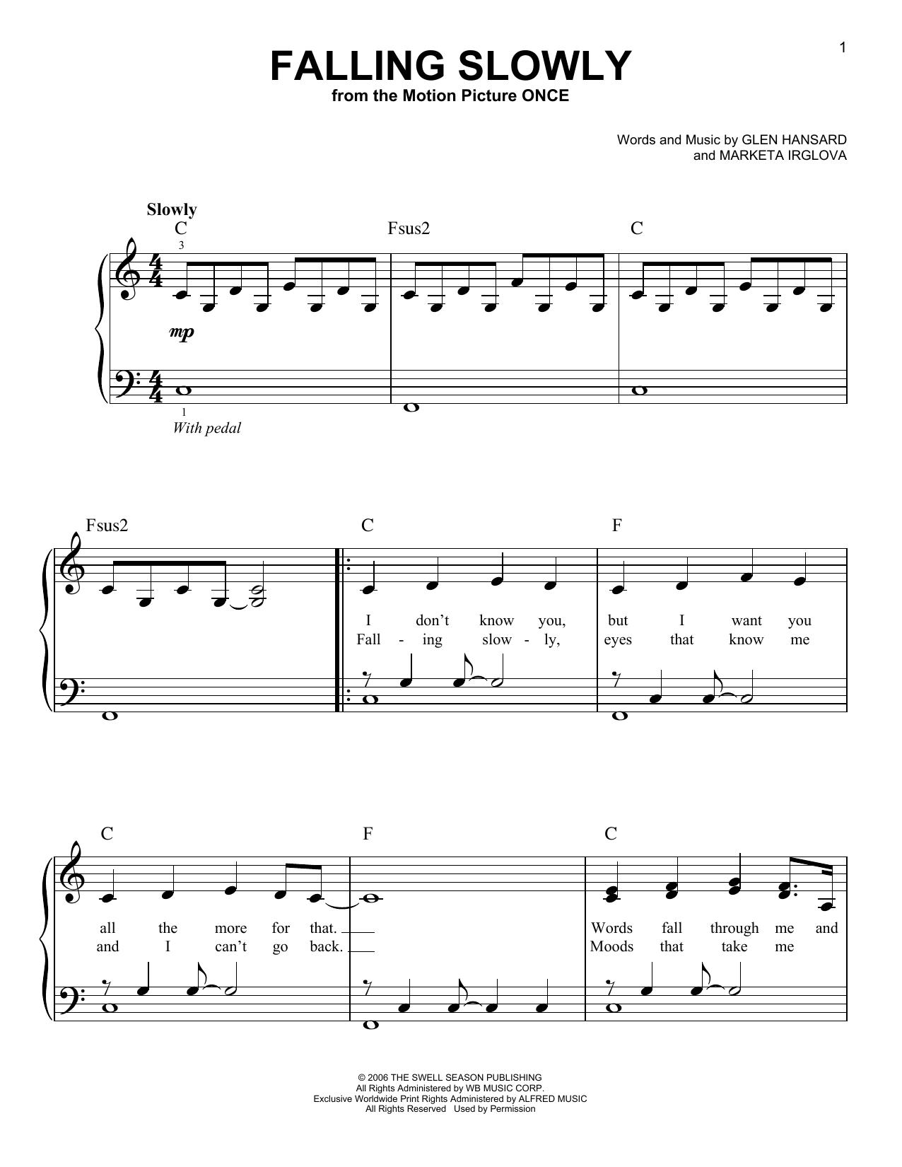 Falling Slowly (Very Easy Piano)