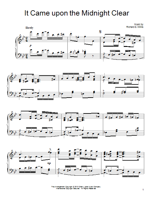 It Came Upon A Midnight Clear Sheet Music