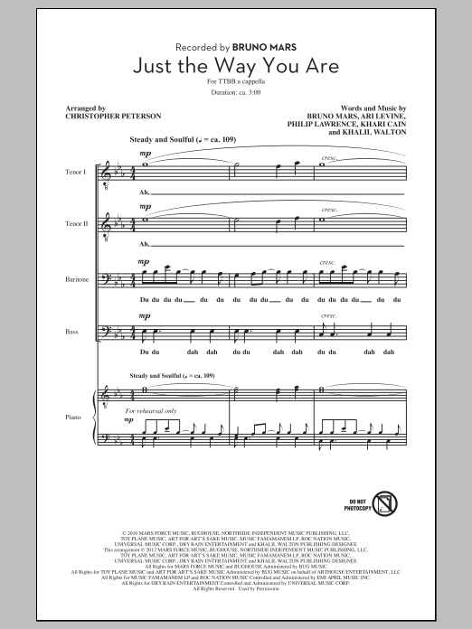 Just The Way You Are (arr. Chris Peterson) Sheet Music
