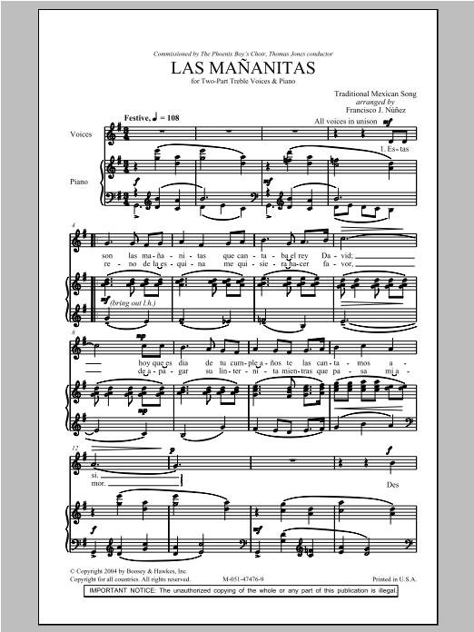 Las Mananitas Sheet Music