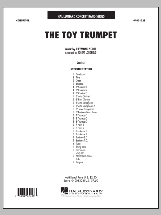 Toy Trumpet (Trumpet Solo and Section Feature) (COMPLETE) sheet music for concert band by Robert Longfield and Raymond Scott. Score Image Preview.