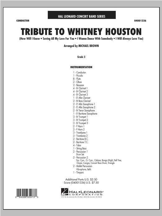 Tribute To Whitney Houston - Conductor Score (Full Score) Sheet Music