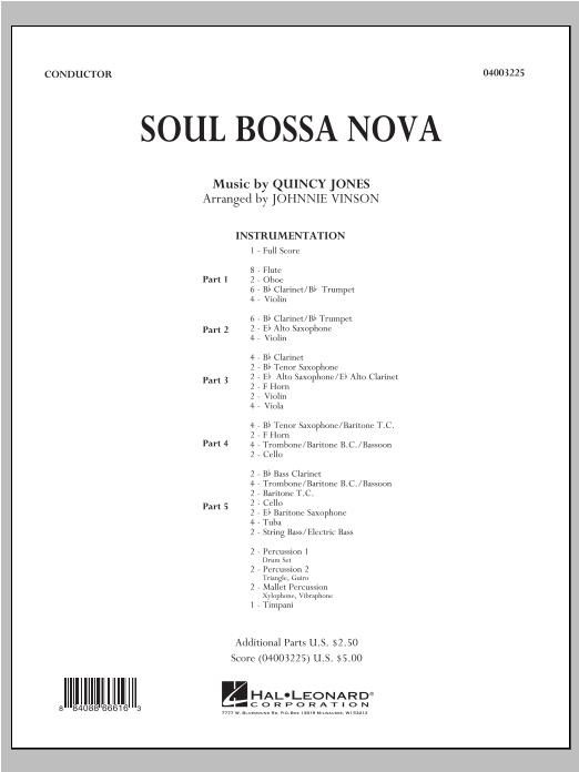 Soul Bossa Nova - Full Score Sheet Music