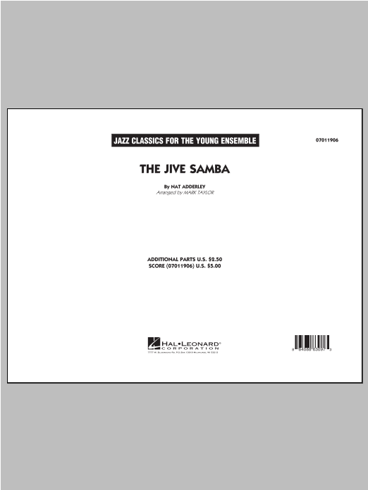 The Jive Samba (COMPLETE) sheet music for jazz band ( Ensemble) by Cannonball Adderley, Nat Adderley and Mark Taylor. Score Image Preview.